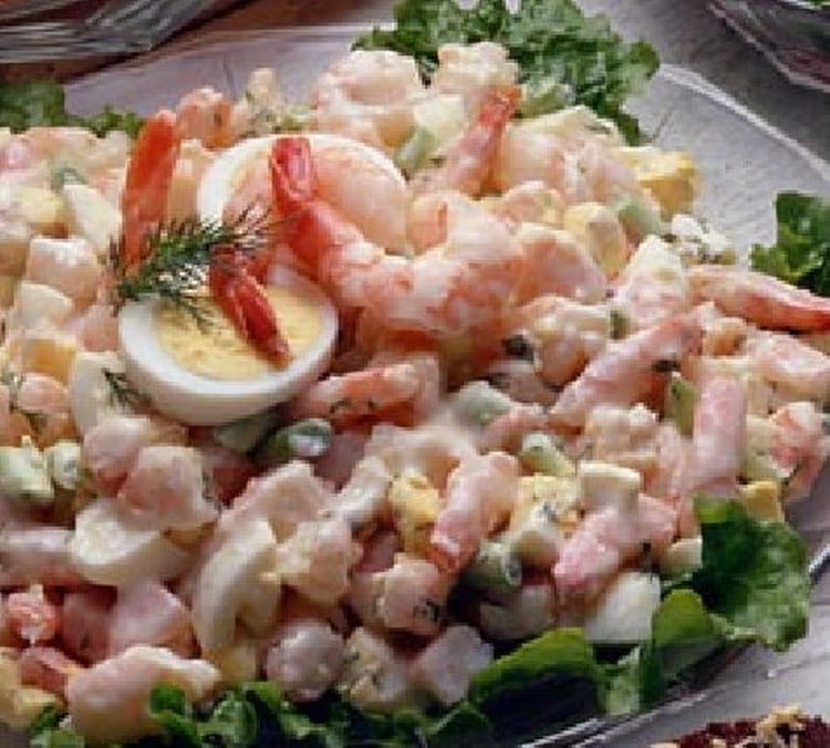 recette de salade de crevettes la mayonnaise la. Black Bedroom Furniture Sets. Home Design Ideas