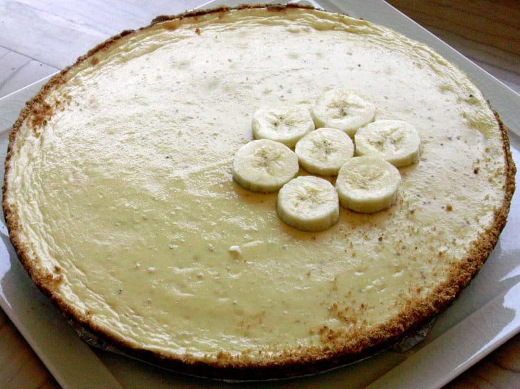 recette de cheesecake la banane et au chocolat blanc. Black Bedroom Furniture Sets. Home Design Ideas