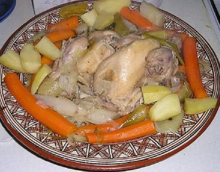 recette de poule au pot aux 233 pices la recette facile