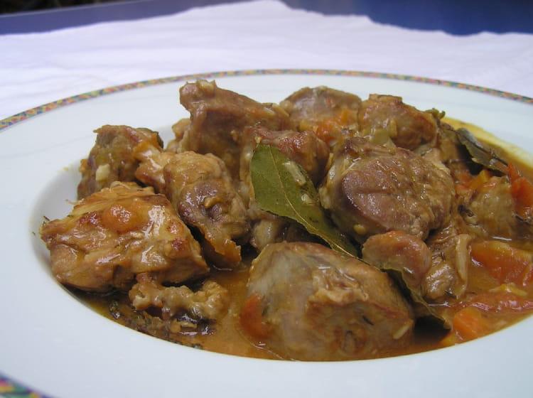 Recette de veau marengo la recette facile - Cuisiner tendron de veau ...
