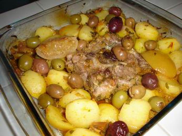 Recette de tajine au four la recette facile - Cuisiner du collier d agneau ...