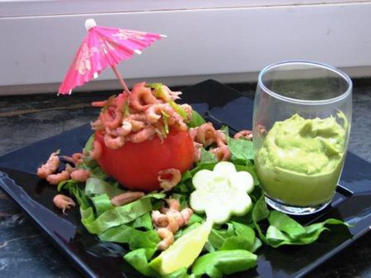 recette de tomates crevettes et guacamole la recette facile. Black Bedroom Furniture Sets. Home Design Ideas