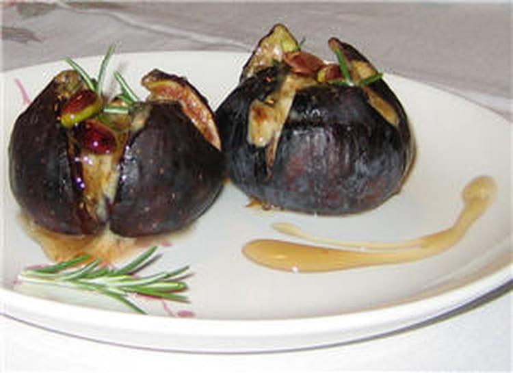 Recette de figues r ties farcies au mascarpone la - Cuisiner des figues fraiches ...