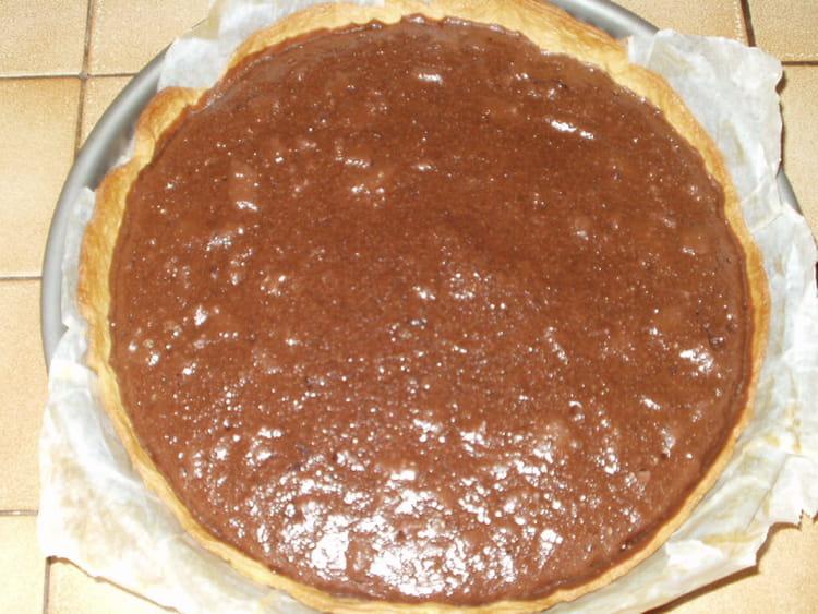 recette de tarte au chocolat et noix de coco la recette facile. Black Bedroom Furniture Sets. Home Design Ideas