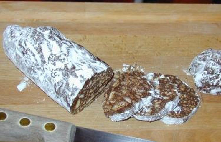 recette de saucisson au chocolat aux petits beurre la recette facile. Black Bedroom Furniture Sets. Home Design Ideas