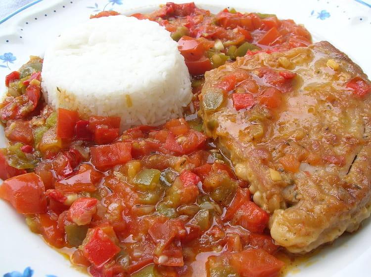 Recette de thon la basquaise la recette facile - Cuisiner le thon rouge ...