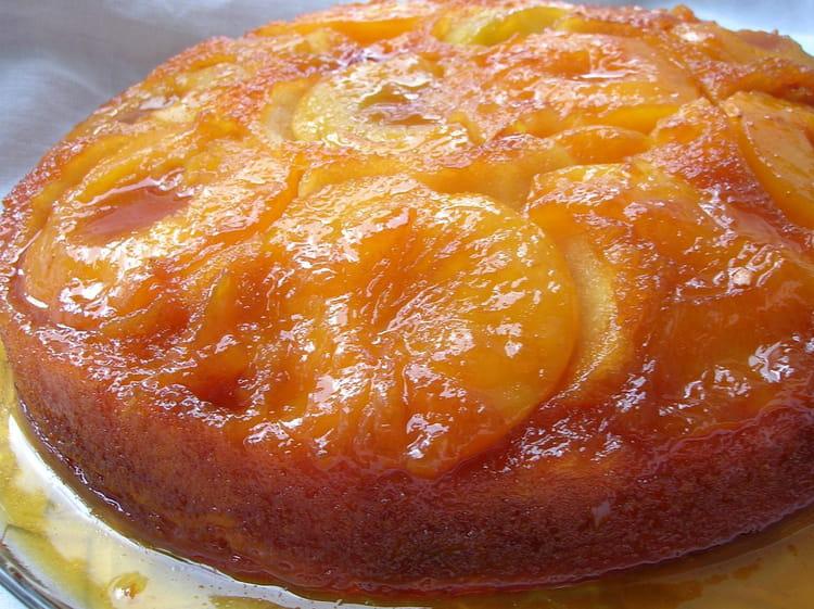 Recette de g teau caram lis aux p ches la recette facile - Tf1 cuisine laurent mariotte moelleux aux pommes ...