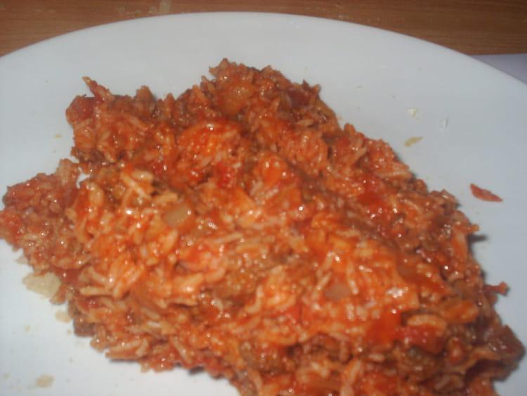 recette de riz la tomate et viande hach e la recette. Black Bedroom Furniture Sets. Home Design Ideas