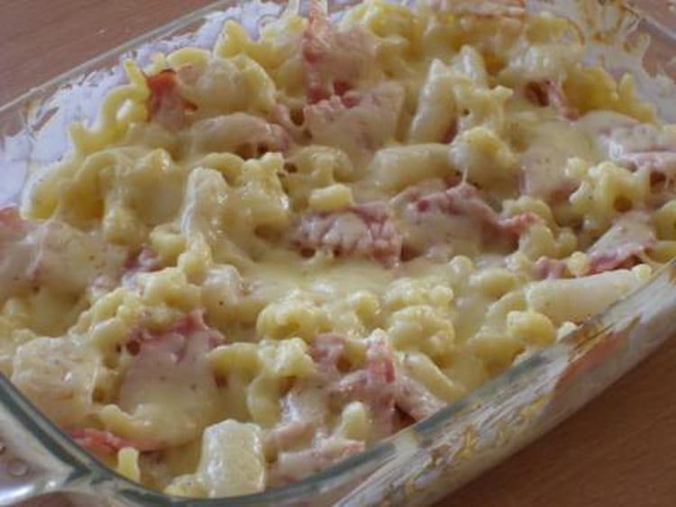 recette de gratin de coquillettes au jambon et salsifis la recette facile