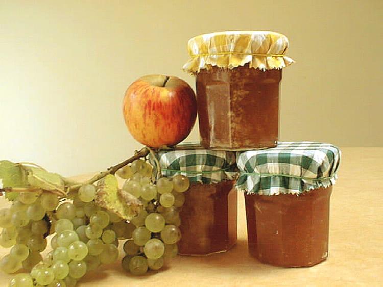Recette de mi confiture mi gel e de pommes et raisin la - Gelee de pommes avec extracteur ...