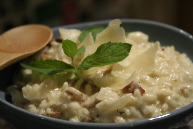 risotto aux champignons la recette facile. Black Bedroom Furniture Sets. Home Design Ideas