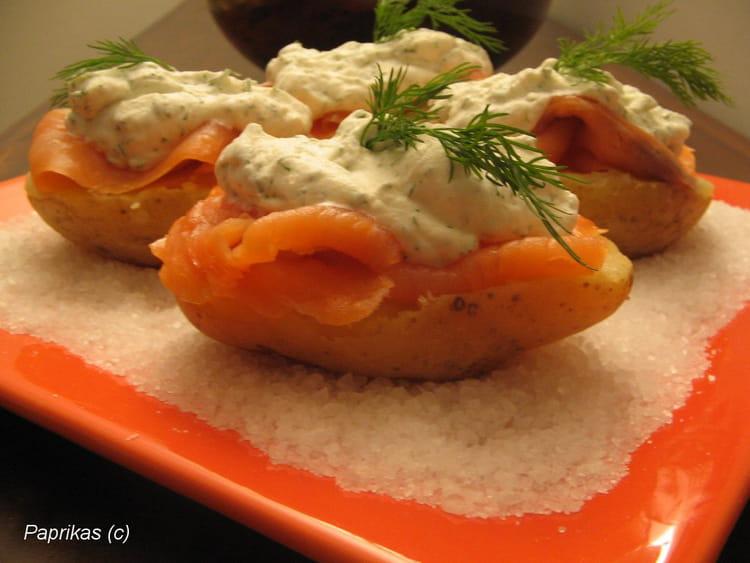 Recette de petites patates au saumon fum la recette facile for Entree simple rapide