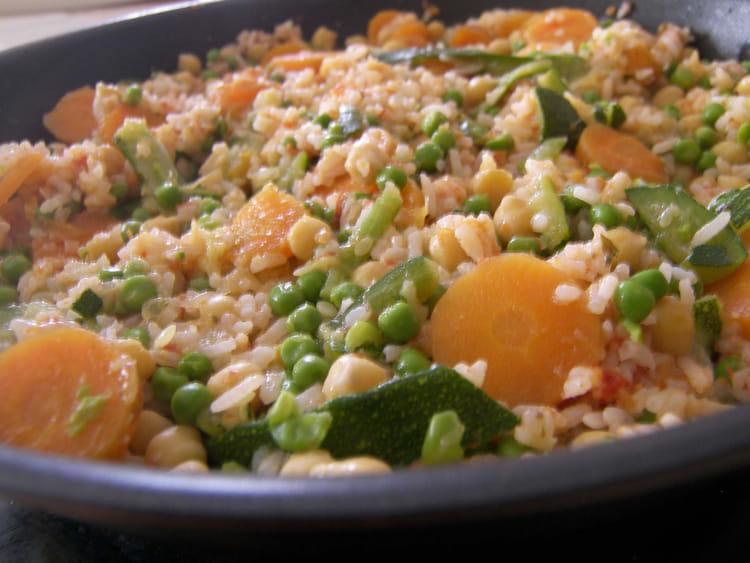 Recette de riz complet aux petits l gumes la recette facile - Legumes faciles a cuisiner ...