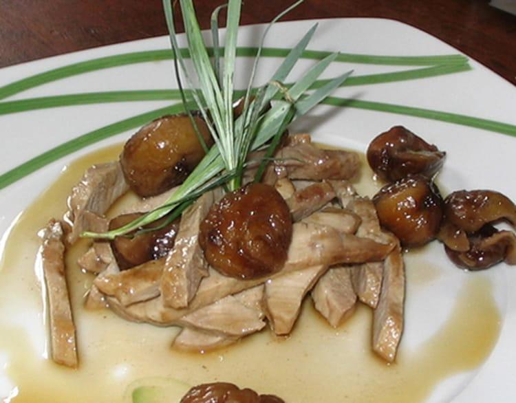 Recette eminc de porc po l aux ch taignes la recette - Recette chataigne a la poele ...