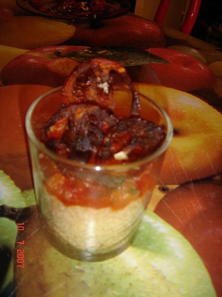 Recette de verrine de tomates s ch es la recette facile - Cuisiner les tomates sechees ...