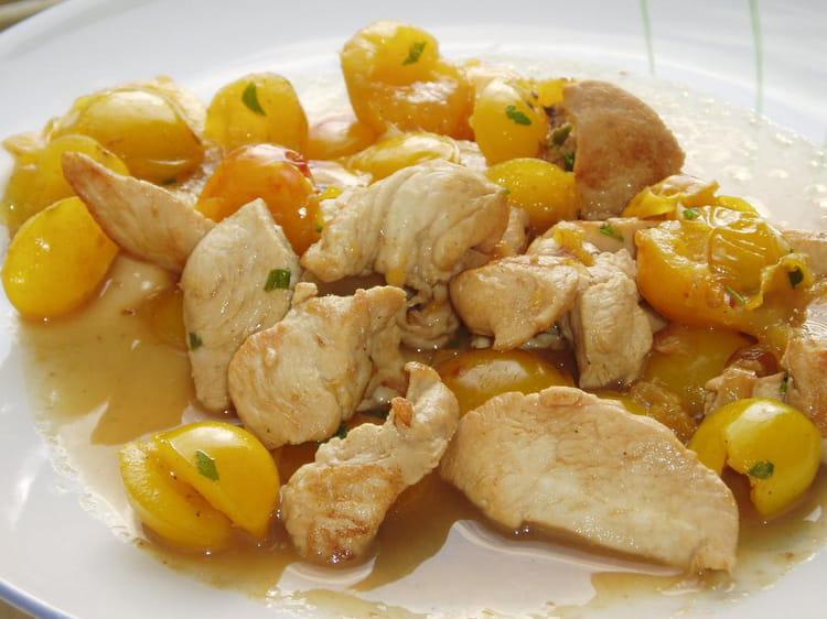 Recette eminc de poulet aux mirabelles la recette facile - Recette avec des mirabelles ...