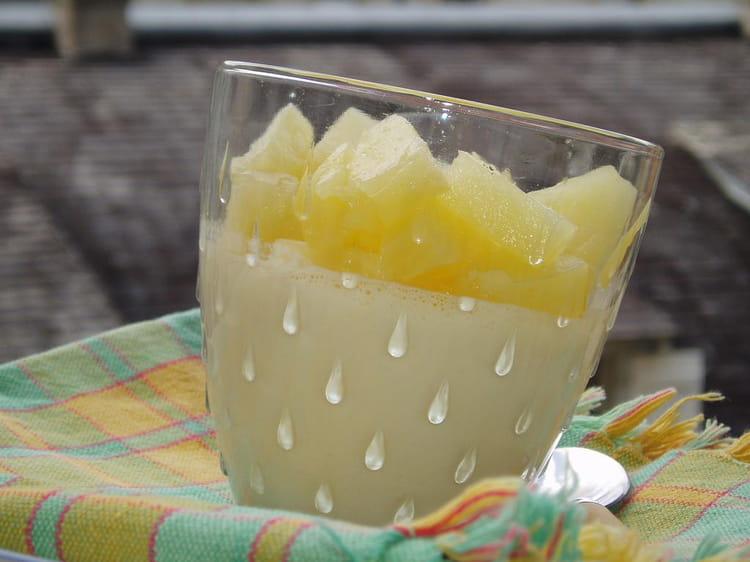 Recette de panna cotta la noix de coco et l 39 ananas la recette facile - Panna cotta noix de coco ...