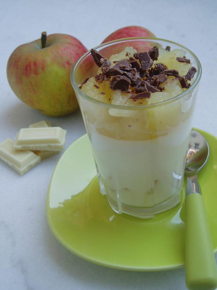 recette de panna cotta au chocolat blanc et aux pommes la recette facile. Black Bedroom Furniture Sets. Home Design Ideas
