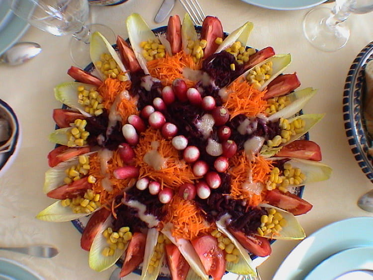 D co entree crudites for Decoration de plat avec des legumes