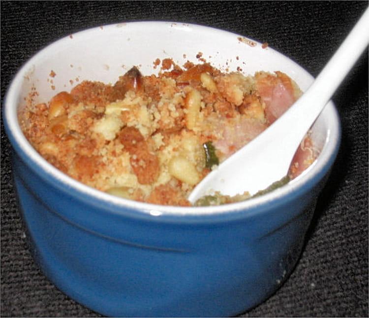Petit crumble de courgettes la recette facile for Entree sympa facile