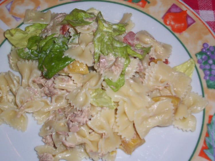 recette de salade de p 226 tes au thon et p 234 ches 224 la mayonnaise la recette facile