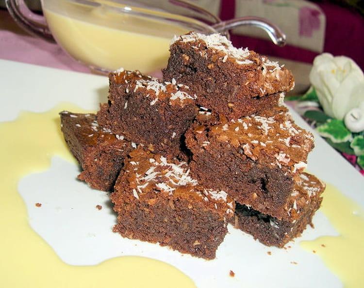recette de brownies chocolat coco la recette facile. Black Bedroom Furniture Sets. Home Design Ideas