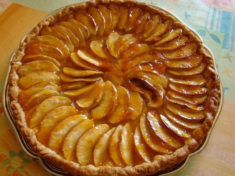 recette de tarte aux pommes caram lis es au miel l 39 ancienne la recette facile. Black Bedroom Furniture Sets. Home Design Ideas