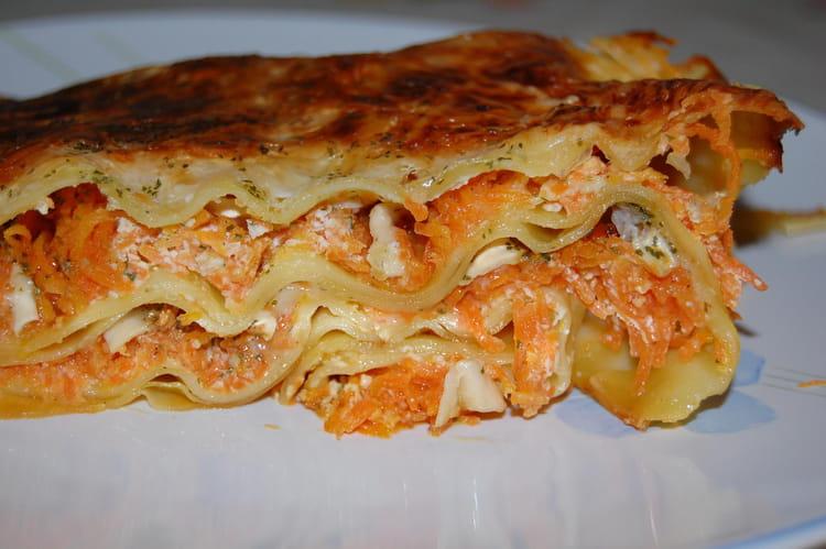 Recette de lasagnes aux carottes et ch vre la recette facile - Cuisiner fanes de carottes ...