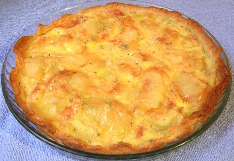 recette de tarte aux pommes de terre et fromage la recette facile. Black Bedroom Furniture Sets. Home Design Ideas