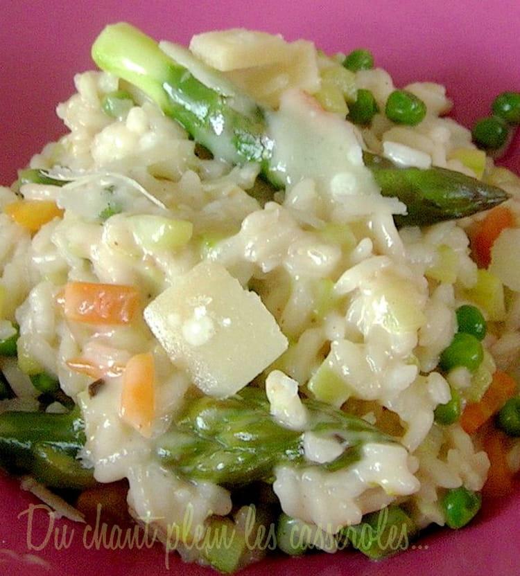recette de risotto aux asperges vertes et au parmesan la. Black Bedroom Furniture Sets. Home Design Ideas
