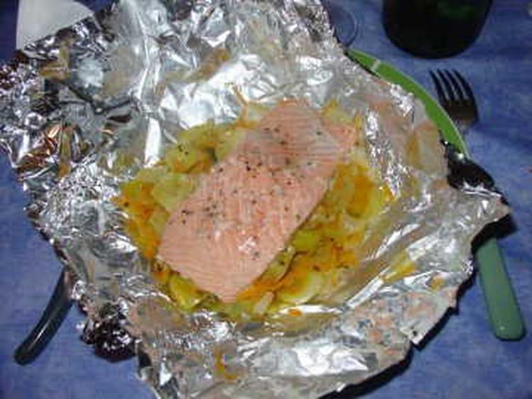 Recette de papillote de saumon la moutarde la recette facile - Saumon en papillote ...