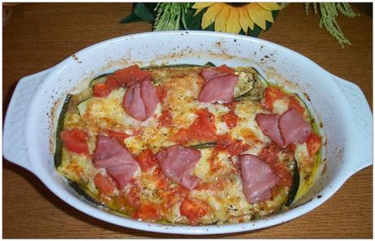 Recette de tian de courgettes la mozzarella la recette - Cuisiner la mozzarella ...