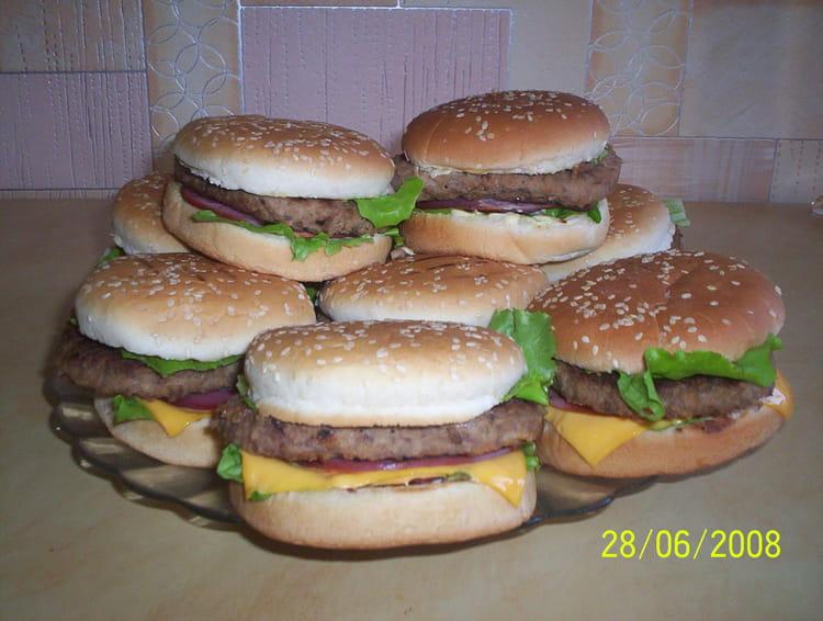recette de hamburger maison la recette facile. Black Bedroom Furniture Sets. Home Design Ideas