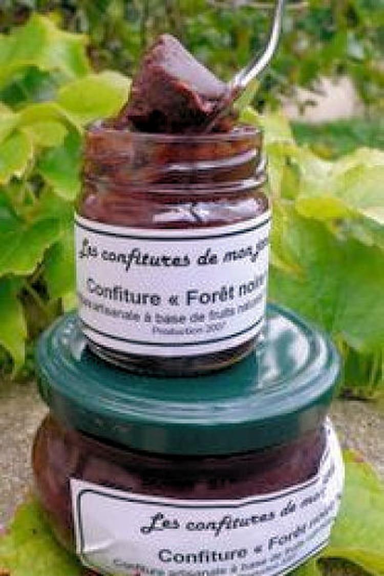Confiture cerises-chocolat