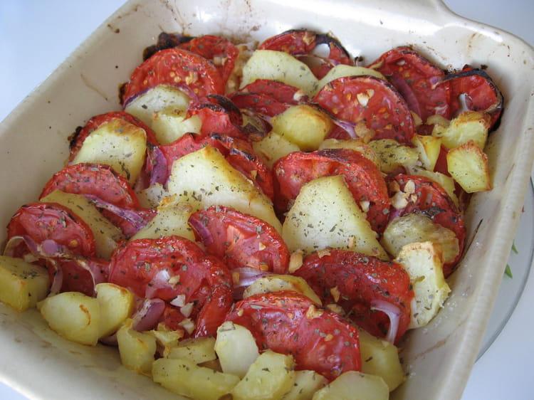 Recette de tian de tomates et de pommes de terre la - Appareil pour couper les pommes de terre en rondelles ...