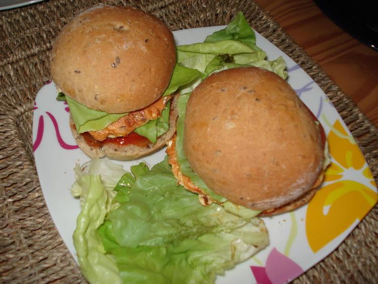 Recette de hamburger maison au saumon la recette facile - Recette hamburger maison original ...