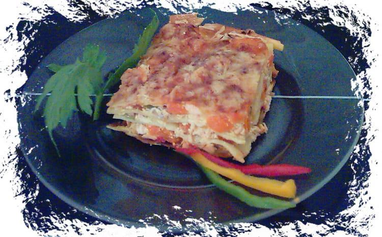 Recette de lasagnes au saumon et aux poivrons la recette - Cuisiner saumon surgele ...