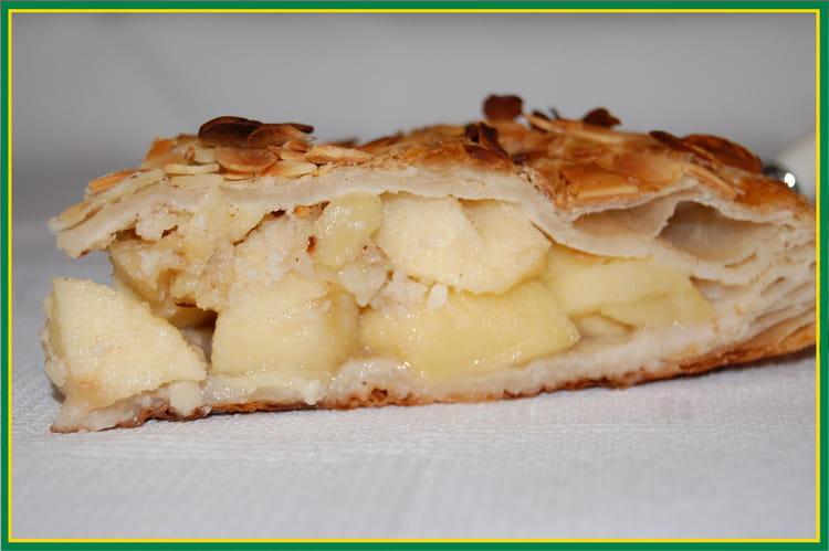 Recette de feuillet aux pommes la recette facile - Feuillete aux pommes caramelisees ...
