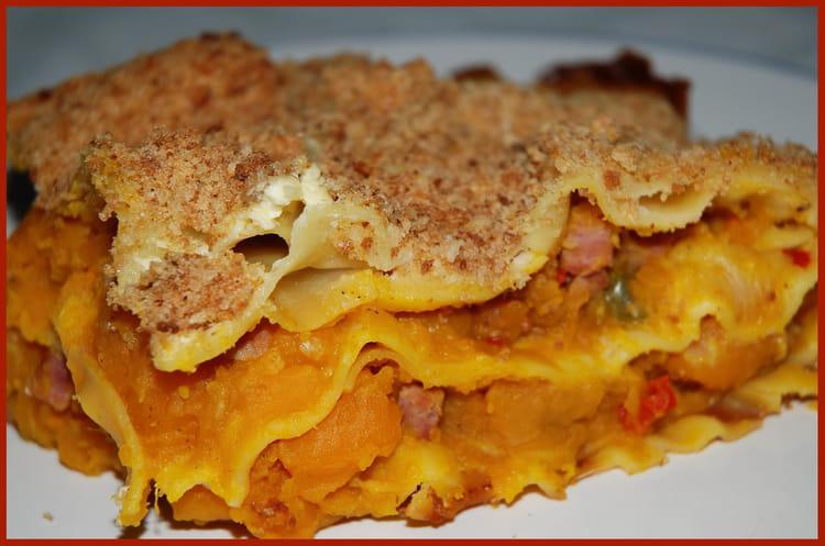 Recette de lasagnes au potimarron la recette facile - Lasagne facile et rapide ...
