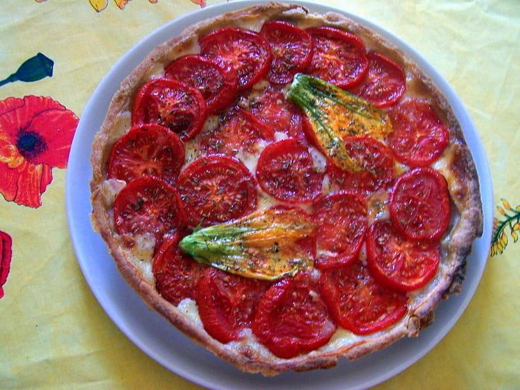 recette de tarte au thon mozzarella et tomates la recette facile. Black Bedroom Furniture Sets. Home Design Ideas