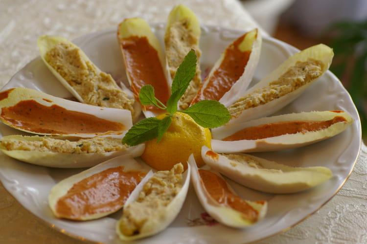 Recette de barquettes d 39 endives ap ritives la recette facile - Petites cuilleres aperitives pour apero sympa ...