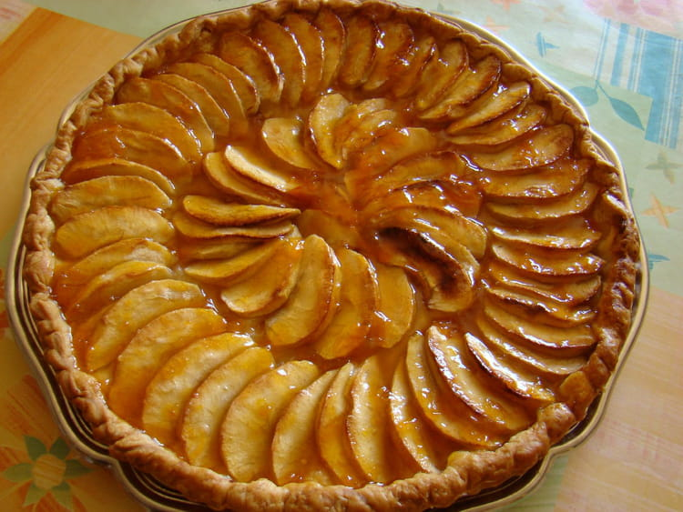 Tarte aux pommes dor e la recette facile - Tarte soleil aux pommes ...