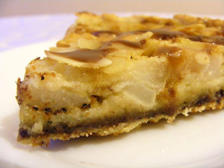 Recette de tarte aux poires chocolat et caramel la recette facile - Recette tarte aux chocolat ...