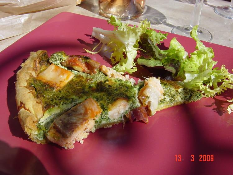 Recette de quiche au saumon pinards et chorizo la recette facile - Recette quiche saumon epinard ...