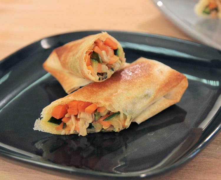 Recette de rouleaux croustillants de l gumes la recette facile - Legumes faciles a cuisiner ...