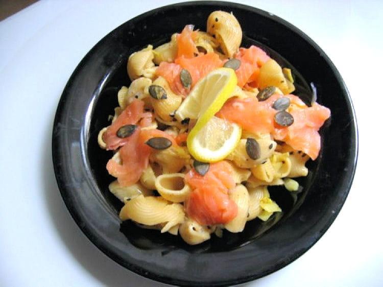 recette de p 226 tes aux endives saumon fum 233 et citron la recette facile