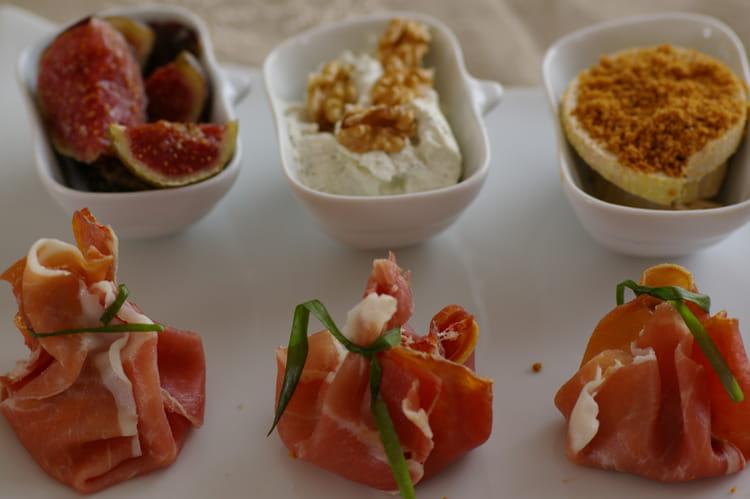 aumoniere de chevre et jambon italien