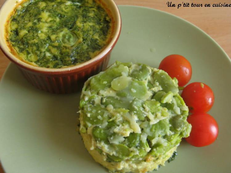 Recette de clafoutis aux f ves au basilic la recette facile - Cuisiner les feves fraiches ...