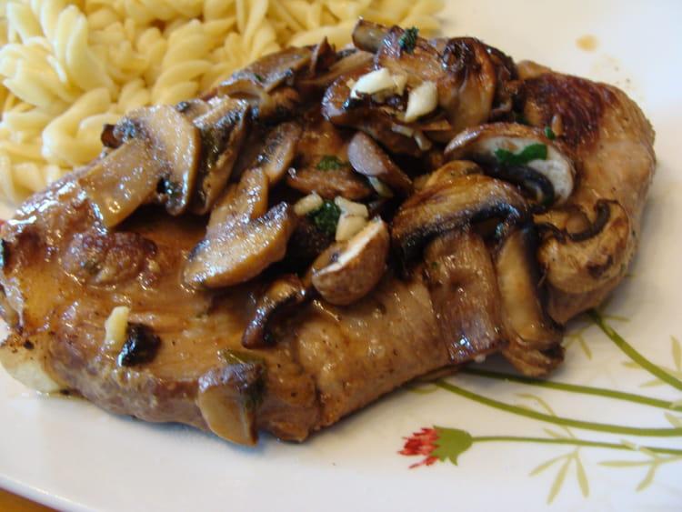 Recette de c tes de porc ma fa on la recette facile - Champignons secs comment les cuisiner ...