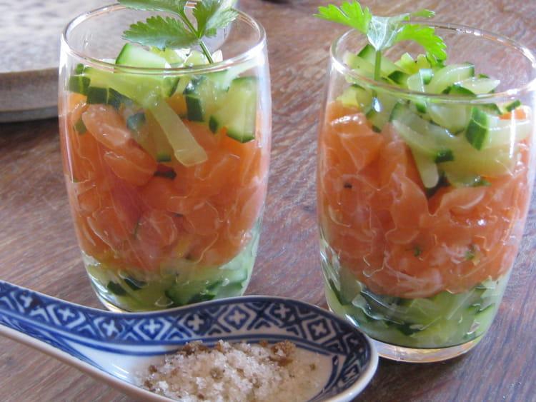 verrine tartare saumon